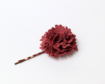 burgundy hair pin dark red accessory/for/hair jewelry rustic jewelry red hair bobby pin/for/girls/gifts daughter boho hair jewelry T3