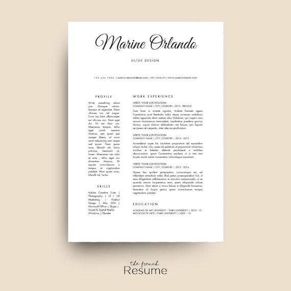 Simple Resume Template Cv Design Cover Letter Amp Ref For