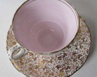 ROYAL STAFFORD Pink Tea Cup and Saucer