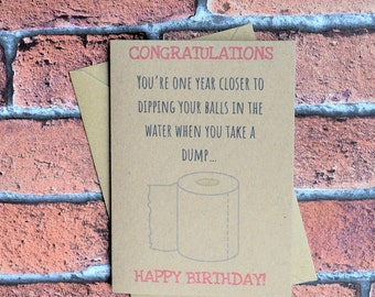 Card for him, Funny birthday card, Card for boyfriend, Card for husband, Card for friend, Funny greeting card, For him, Cards for men