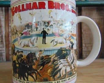Gollmar Bros Shows Mug / Vintage Gollmar Bros Shows Mug / Gollmar Brothers Circus