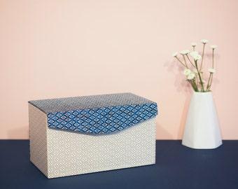 Deco box - blue & gold
