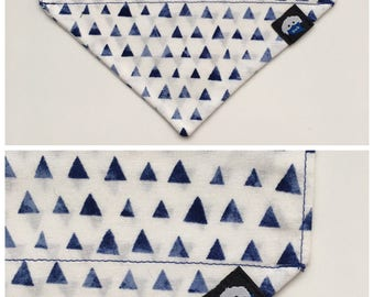 Bizarre Faded Triangle bandana-Blue