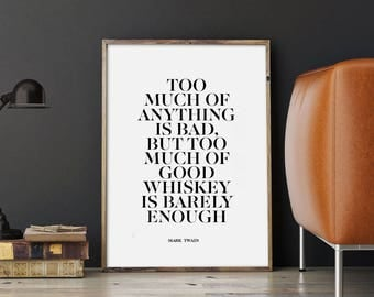 Wall Decor For Men drinking quote | etsy