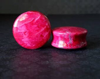 "Organic Pink Plugs (0G - 1 7/8"")"