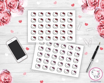 Hello Kitty Stickers, Happy planner stickers, erin condren stickers, personal planner stickers, life planner stickers, planner stickers