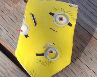 Yellow Minions Tie, Yellow Necktie, Banana Necktie, Minion Necktie, Eyes Necktie, Eyeglasses Necktie