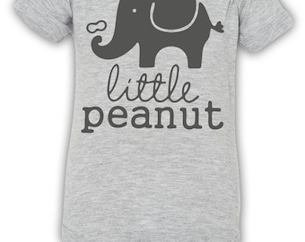 Little Peanut Onesie / Peanut Onesie / Elephant Onesie / Cute Baby Onesie / New Born Baby Onesie / Baby Boy Onesie / Baby Girl Onesie