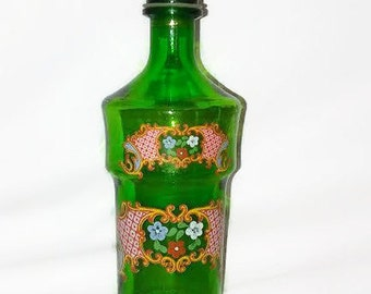 Vintage Green Decanter