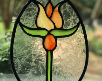 Victorian Egg-Shaped Stained Glass