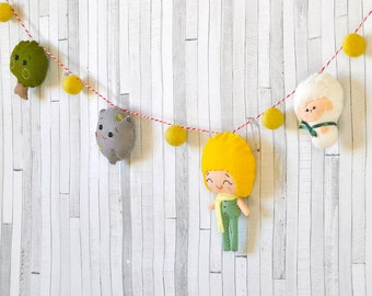 READY TO SHIP Baby garland The tiny prince Wall art Boy nursery decor Kid's room decoration Baby shower gift Nursery wall decoration