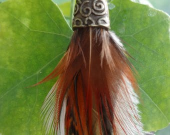 Lava Cloud - Single Feather Earring