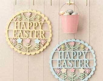 Happy Easter Fretwork Signs - Large