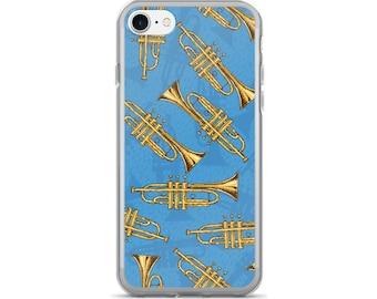 Trumpet iPhone Case, Phone Case Trumpet, Trumpet Phone Case, Protective iPhone Case, iPhone 7 Case, iPhone 6 Case, iPhone 5, Brass Trumpet