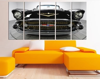 old car wall art canvas, sports art print, classic chevrolet wall decor, large wall art print on canvas, canvas art print home decor 8s23