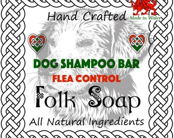 Natural Dog Shampoo Soap Bar (Flea Control)