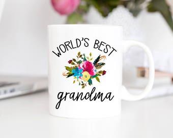 Grandma Mug | Grandma Mothers Day | Worlds Best Grandma | Grandparent Gift | Mother's Day Gift | Grandma Coffee Mug | Nana Mug | Nana Gift