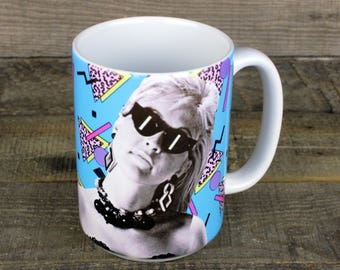 Cyndi Lauper MUG 80s nostalgia goonies She's so unusual pop musician gifts for her gay icons feminist heroes True Colors girlfriend gift