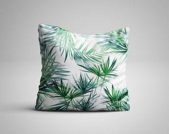 Tropical Leaves Cushion.