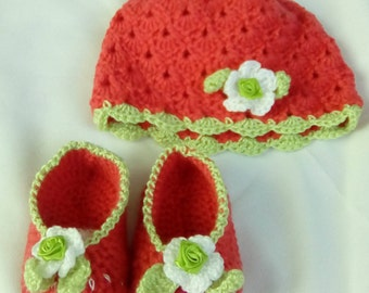 Joint shoes and hat crochet for baby