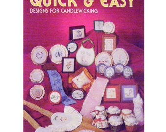 Candlewick Embroidery Books x 2