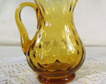 Beautiful Amber Glass Pitcher
