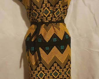 1950s/60s vintage dress - hand sewn - From Mexico