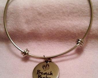 Beach Babe Charm Bangle  Bracelet