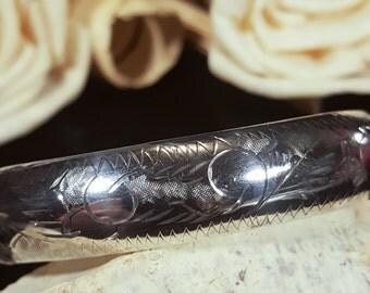 Antique 1940's Sterling Silver Bangle Bracelet