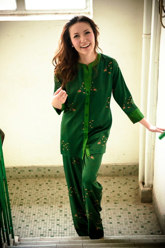 LuRe LING Emerald Green Pyjama Set