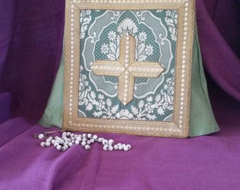 Mourning Cover, Religious Accessories, Greek, Orthodox Practice, Mourning, Silk Embroidery, Mourning Stand, Photograph Cover