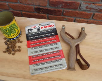 Vintage Sling Bow Slingshot with WHAM-O Ammo