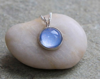 Moonstone Necklace - Sparkle Necklace - Handmade Necklace - Handmade Pendant