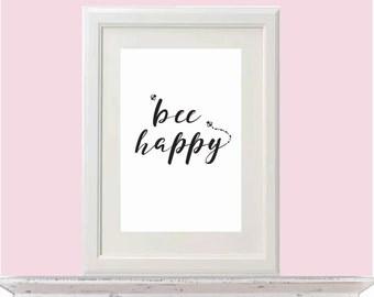 Bee Happy A4 Print
