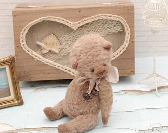 Vintage Teddy bear Monya handmade toy gift