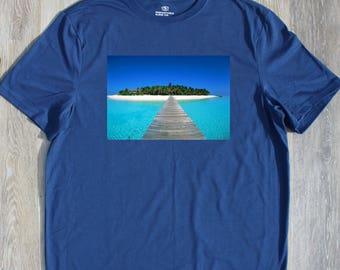 Ocean Paradise T-shirt T Shirt Tee Mens Gift Present New Dad  Husband Christmas Gift Nature Water