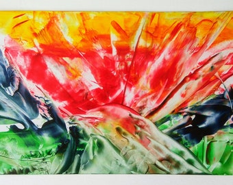 "Abstract Encaustic Painting ""Energy"""