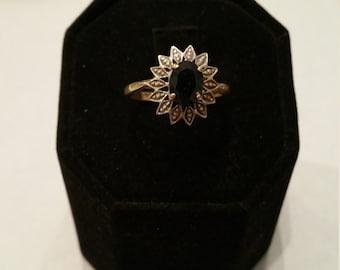 Stunning Sapphire and diamond ring - #147