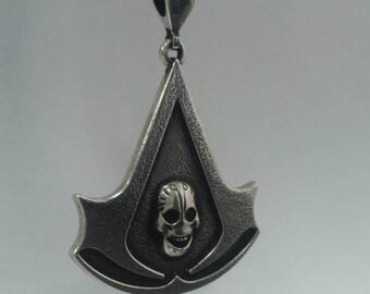 Assassin's Creed  Skull Symbol Pendant   Assassin's Creed Brotherhood Symbol