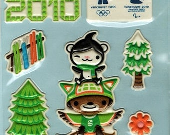 2010 Vancouver Winter Olympics Embossed Foam Stickers