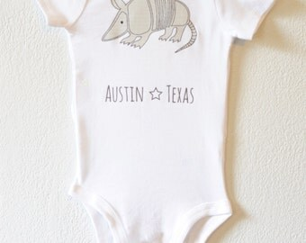 Armadillo, Austin Texas infant bodysuit