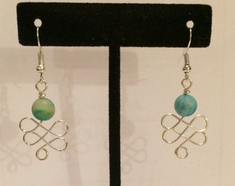 Wire Wrapped Celtic Earrings