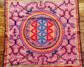 Shipibo Textile Mesa Icaro of Ayahuasca  54 x 54 CM