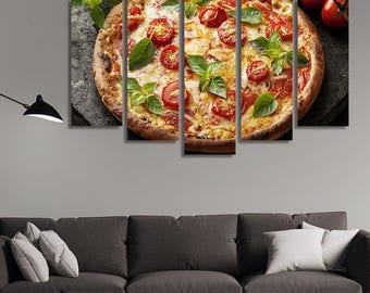 Italian Food, Pizza, Food Photography, Restaurant Décor, Food Wall Art, Kitchen Décor, Italian Décor, Kitchen Wall Décor, Large Canvas Print
