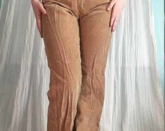 Vintage 1970s Beige Corduroy Pants
