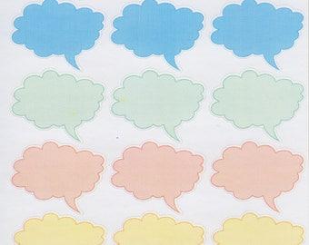 Speech Bubble Cloud | 159 | Planner Sticker | Kikki-K | Happy Planner | Erin Condren