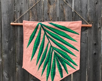 Plants on Pink Banner