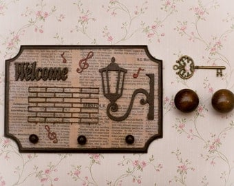 Free Shiopping Key Holder Personalized Key Holder for Wall Welcome Sign Personalized Wall Decor Key Wall Hanging House Key Holder Wall Decor