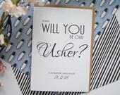 Personalised Usher Card  Wedding Cards  Will You Be  Our Usher  My Usher  Usher Card  Wedding Party Cards  Usher Gift