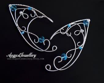 Elven Ear Cuffs - Silver Elven Ear Cuffs - Fairy Ear Cuffs - Elf Ear Cuffs - Elven Ear Wraps - Ear Cuffs - Fairy Ear Wraps - Halloween